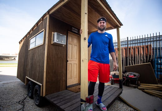 Iowa Cubs pitcher Trevor Clifton is living in a tiny house this summer