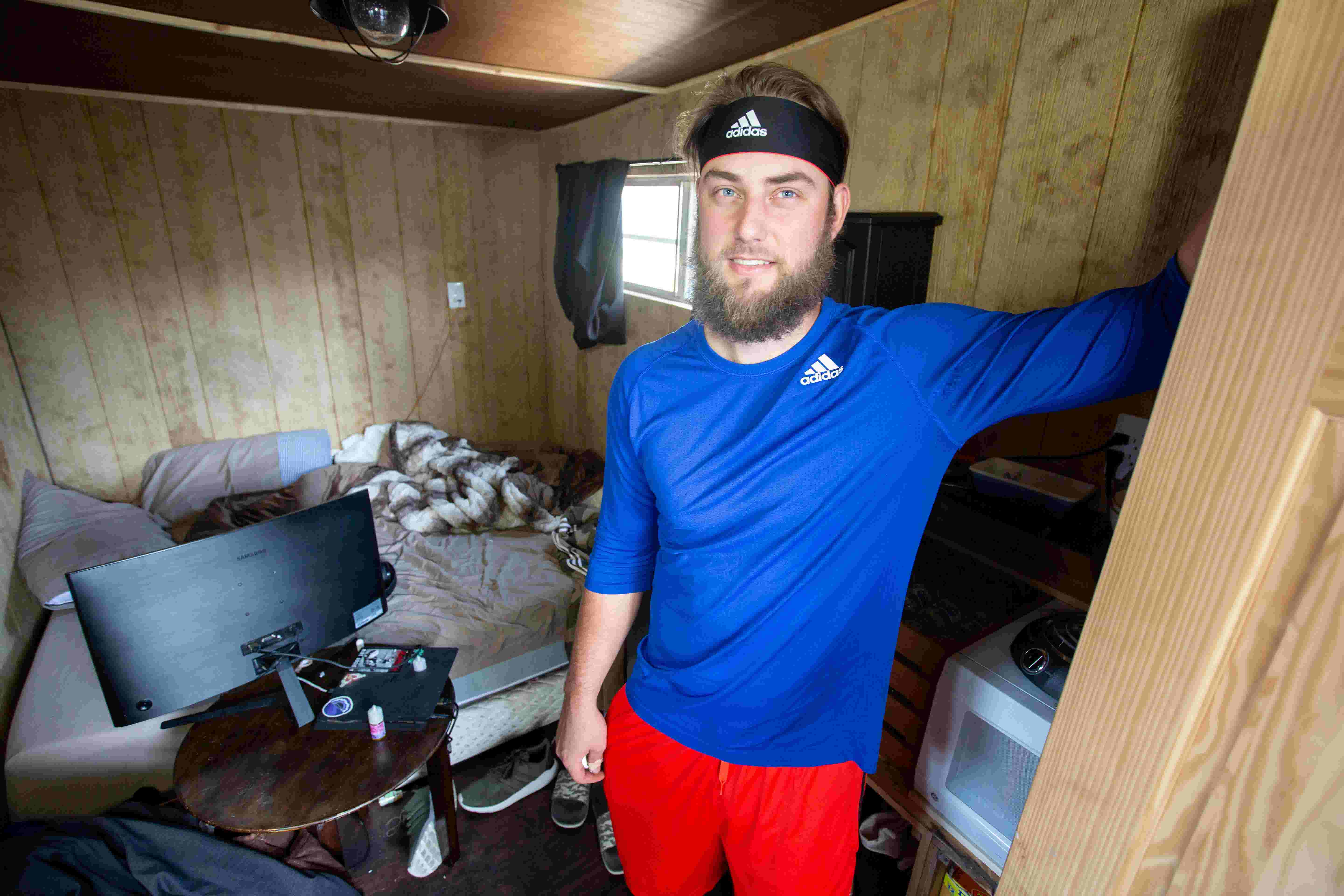 Iowa Cubs pitcher Trevor Clifton finds peace, quiet and affordability in his tiny house
