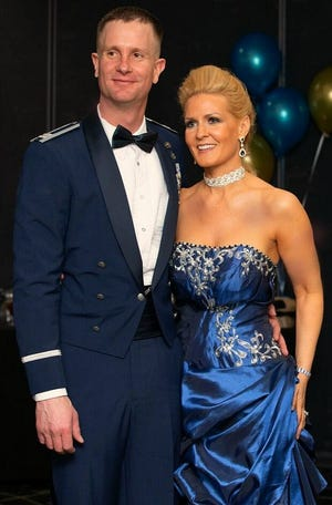 Newlyweds Dave and Hollie Zajicek celebrated their wedding in blue March 30.