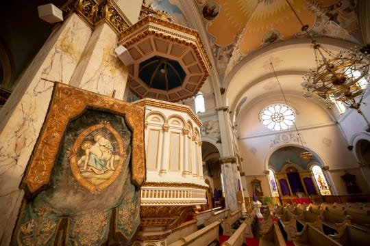 An interior view of St. Josaphat Church in Detroit.
