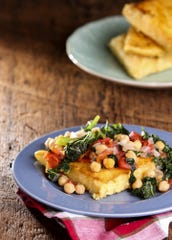 Polenta with Kale and Garbanzo Beans on Thursday, March 14, 2018. (Colter Peterson/St. Louis Post-Dispatch/TNS)