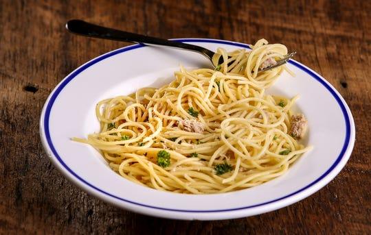 Spaghetti al Tonno on Thursday, March 14, 2018. (Colter Peterson/St. Louis Post-Dispatch/TNS)