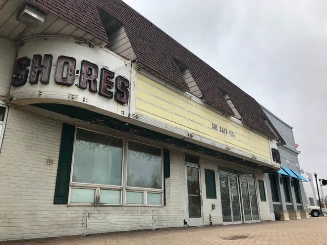 The Shores Theatre, seen here on Friday, April 19, 2019, has been vacant for several years. St. Clair Shores native David Harden has purchased the historic property that dates back to the 1930s. The owner of the Butter Run Saloon plans to develop it into a restaurant, bar and entertainment venue.