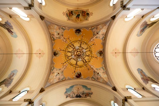 An view of the ceiling of St. Josaphat Church in Detroit.