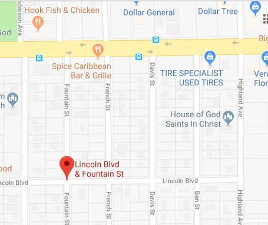 Fort Myers Police are asking motorists to avoid Fountain Street from Lincoln Boulevard to Martin Luther King Jr. Boulevard afte a shooting Friday , April 19, 2019, afternoon.