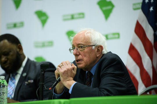 Democratic presidential candidate U.S. Sen. Bernie Sanders during a roundtable discussion on poverty at the West End Community Development Center Friday, April 19, 2019.