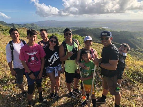 The Nonog Family on Good Friday, April 19, 2019. From left: Rodel, Zhyrona, Honesto, Anne, Leo, Amy, Jezrae, Joel and baby Joemyiah Nonog.