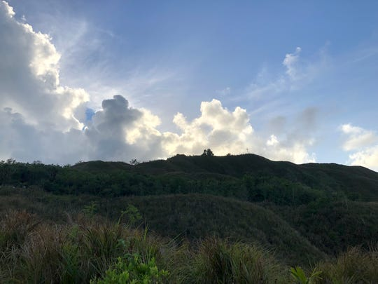The roadside view on Good Friday of Mt. Jumullong Manglo on April 19, 2019.
