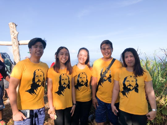 The Casupanan family on their first Good Friday hike up Mt. Jumullong Manglo on April 19, 2019. From left: Richard, Reiven, Rickie, Jun Jun and Jemely Casupanan.