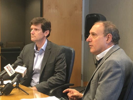 The state Department of Health's state health officer, Dr. Thomas Dobbs (left) and State Epidemiologist, Dr. Paul Byers alerted residents that a man with a confirmed case of measles had visited Hattiesburg last week.