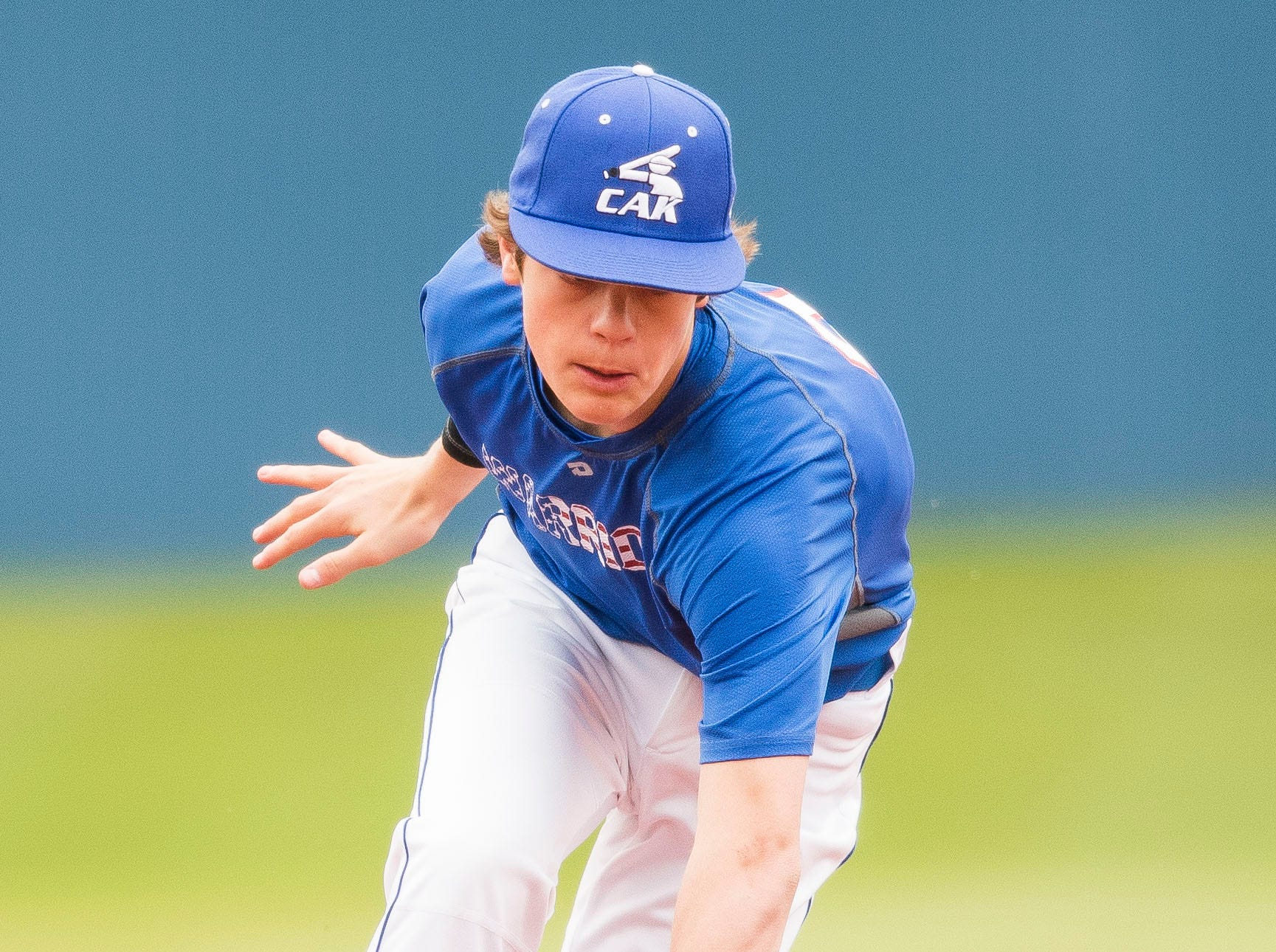CAK's Ryan Degges fields the ball during a baseball game between CAK and Bartlett held at CAK in Knoxville on Friday, April 29, 2019.