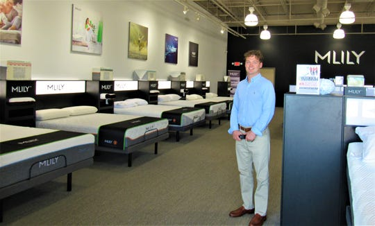 MLILY retail store manager Matt Smith runs the newly opened showroom of the luxury mattress company. Located at the west end of Village Green Shopping Center, it's next to Fresh Market.