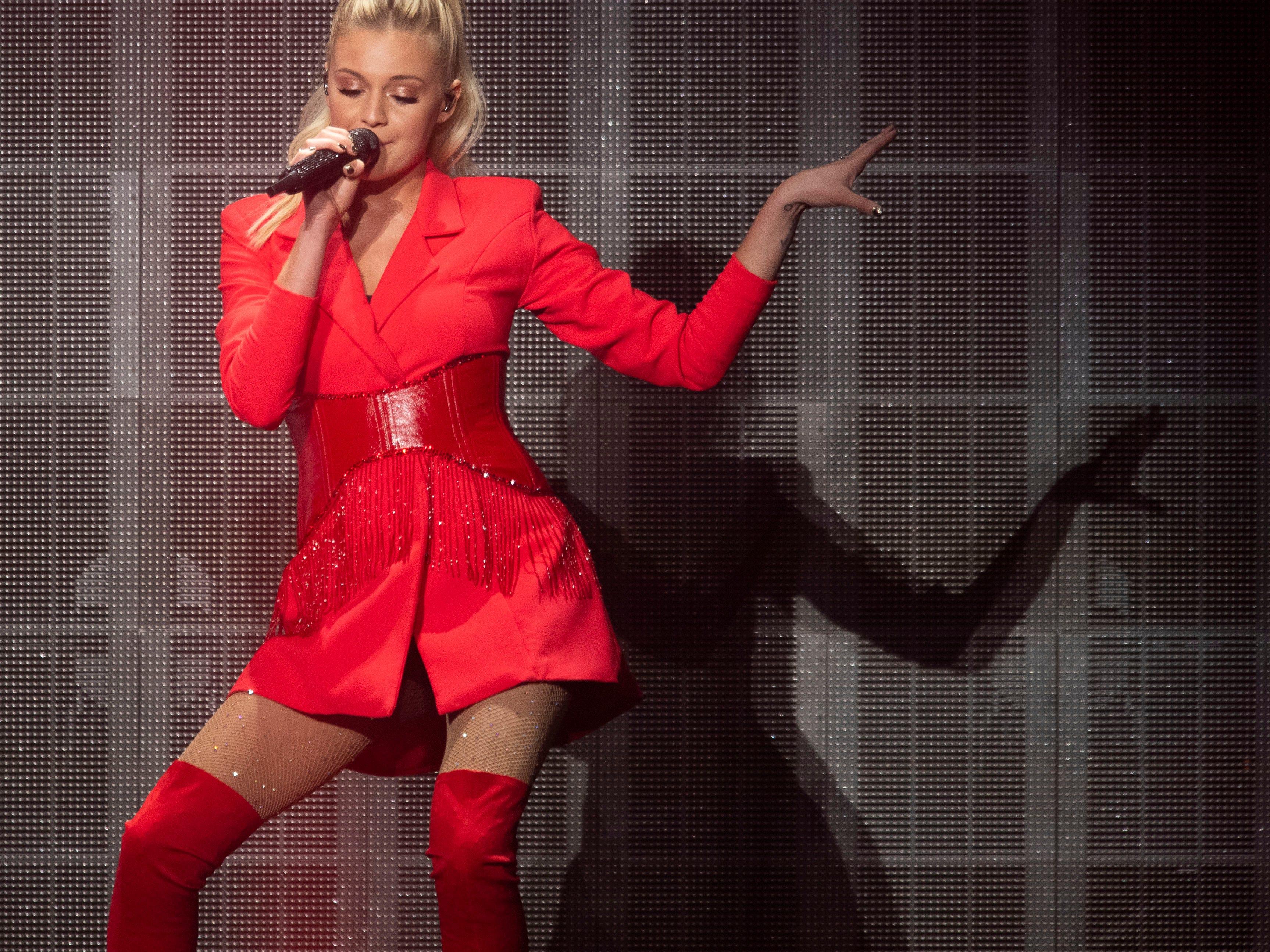 "Kelsea Ballerini at the Civic Coliseum for her ""Miss Me More"" tour on Thursday, April 18, 2019."