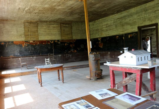 A single classroom was used to house students from first through eighth grade. 2019