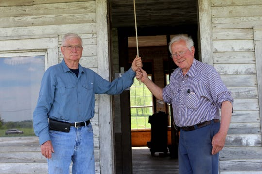 Dr. Sam Lyle and his brother-in-law John Plummer restored Island View School together. April 2019