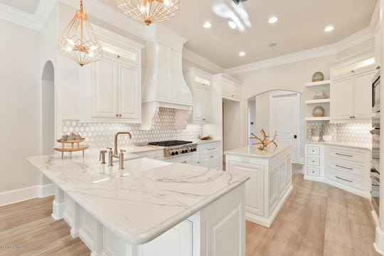Custom kitchen designed with a clean, modern look