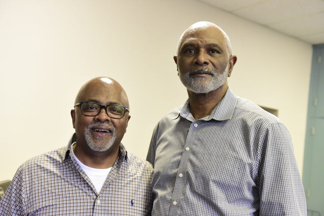 DeWayne Lee, left, and Geron Tate will become life members of the Mansfield branch of the NAACP at its upcoming banquet on May 4.