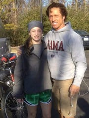 Avery and Philip Downing on Jan. 1, 2012.