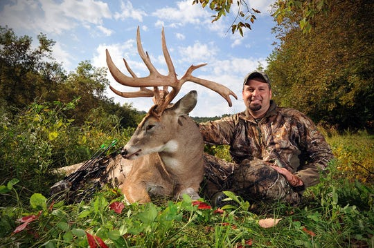 Troy Muche of Mayville poses with a whitetail buck he shot in Buffalo County. The Buffalo County deer advisory council has recommended an antlerless-only hunting season in 2019 in an effort to reduce the local deer population.