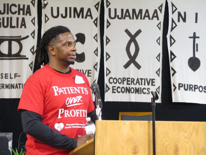 Nate Gilliam, an organizer for the Wisconsin Federation of Nurses and Healthcare Professionals, was one of the first activists to mobilize when he heard Ascension Wisconsin planned to cut services to St. Joseph hospital a year ago.