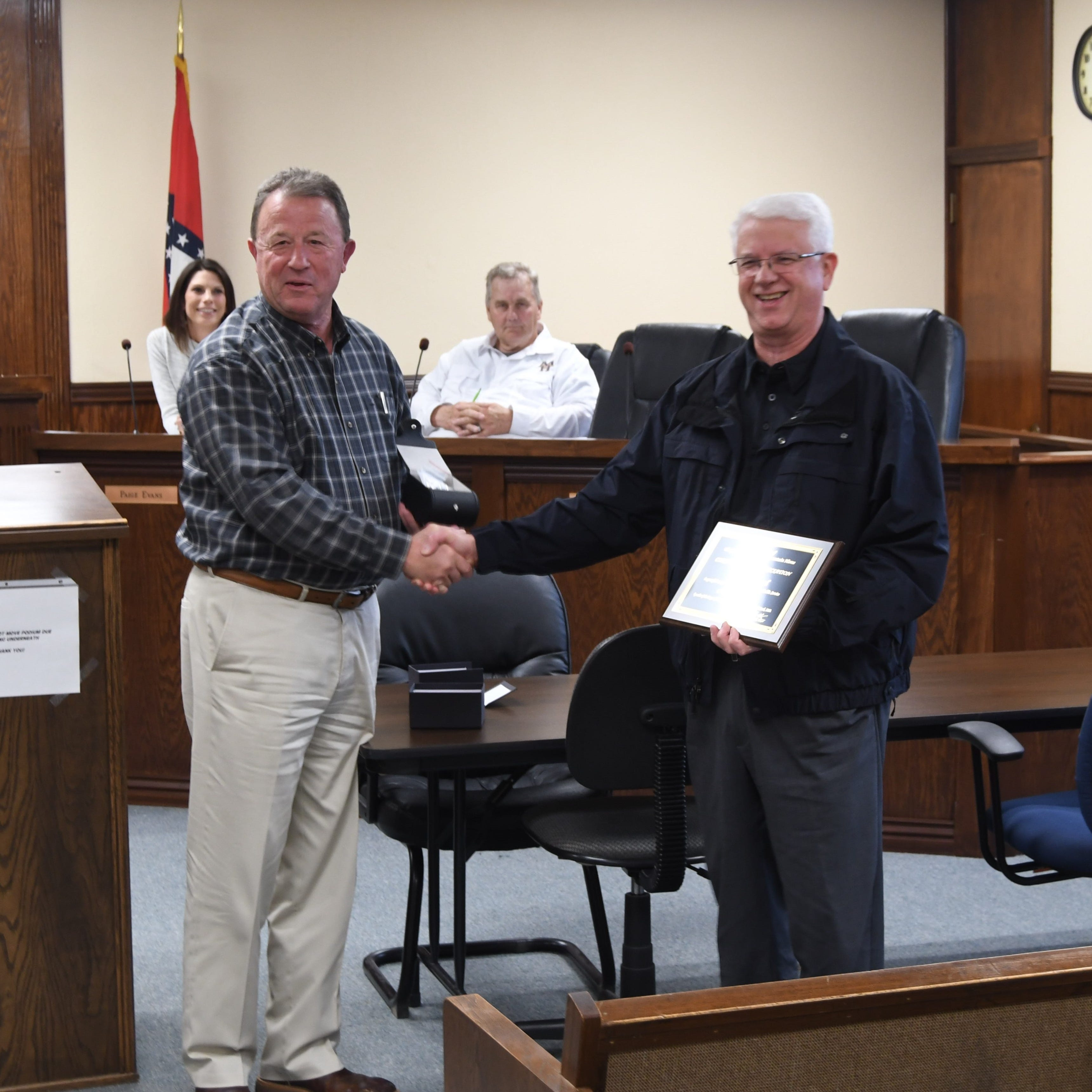 Manuel recognized for 35 years of service