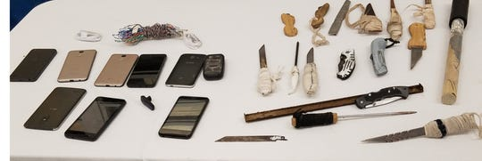 A sampling of contraband found at Holman prison on April 18, 2019.