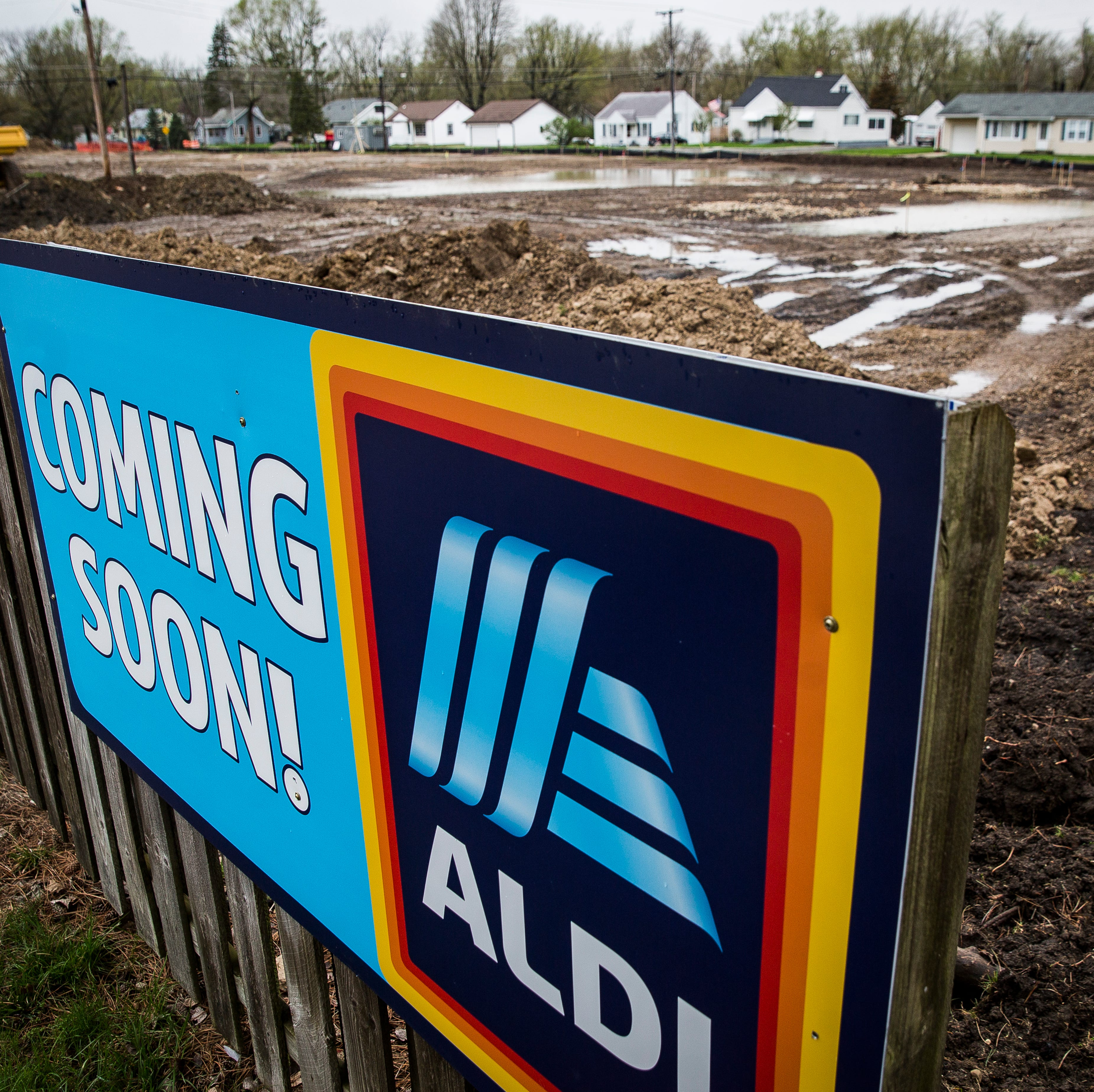 Work on building the new McGalliard Road ALDI begins