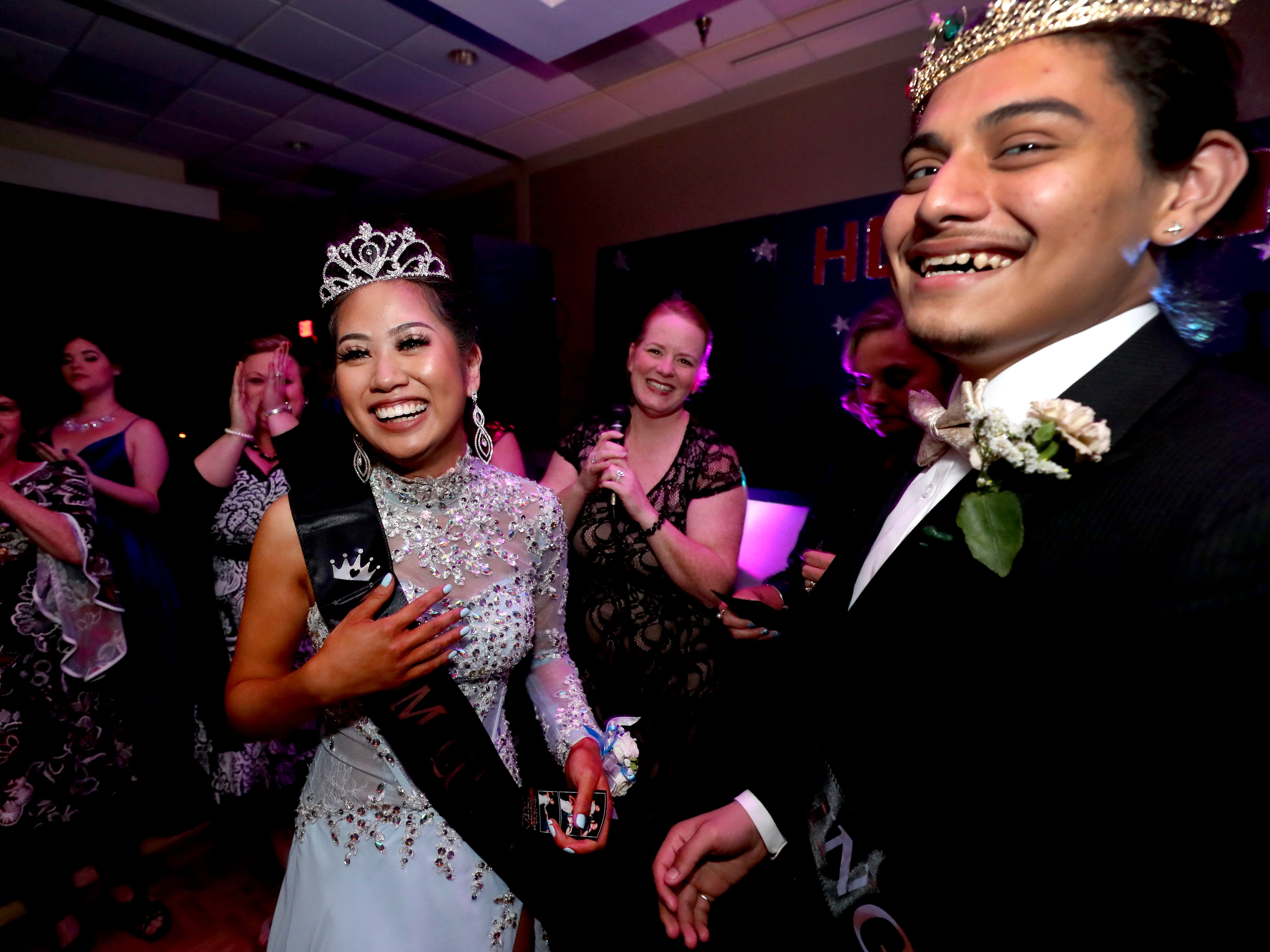 Anna Kounboribounsak and Diego Valencia are named Holloway High's Queen and King of Prom during Holloway's prom at the DoubleTree on Thursday April 18, 2019.