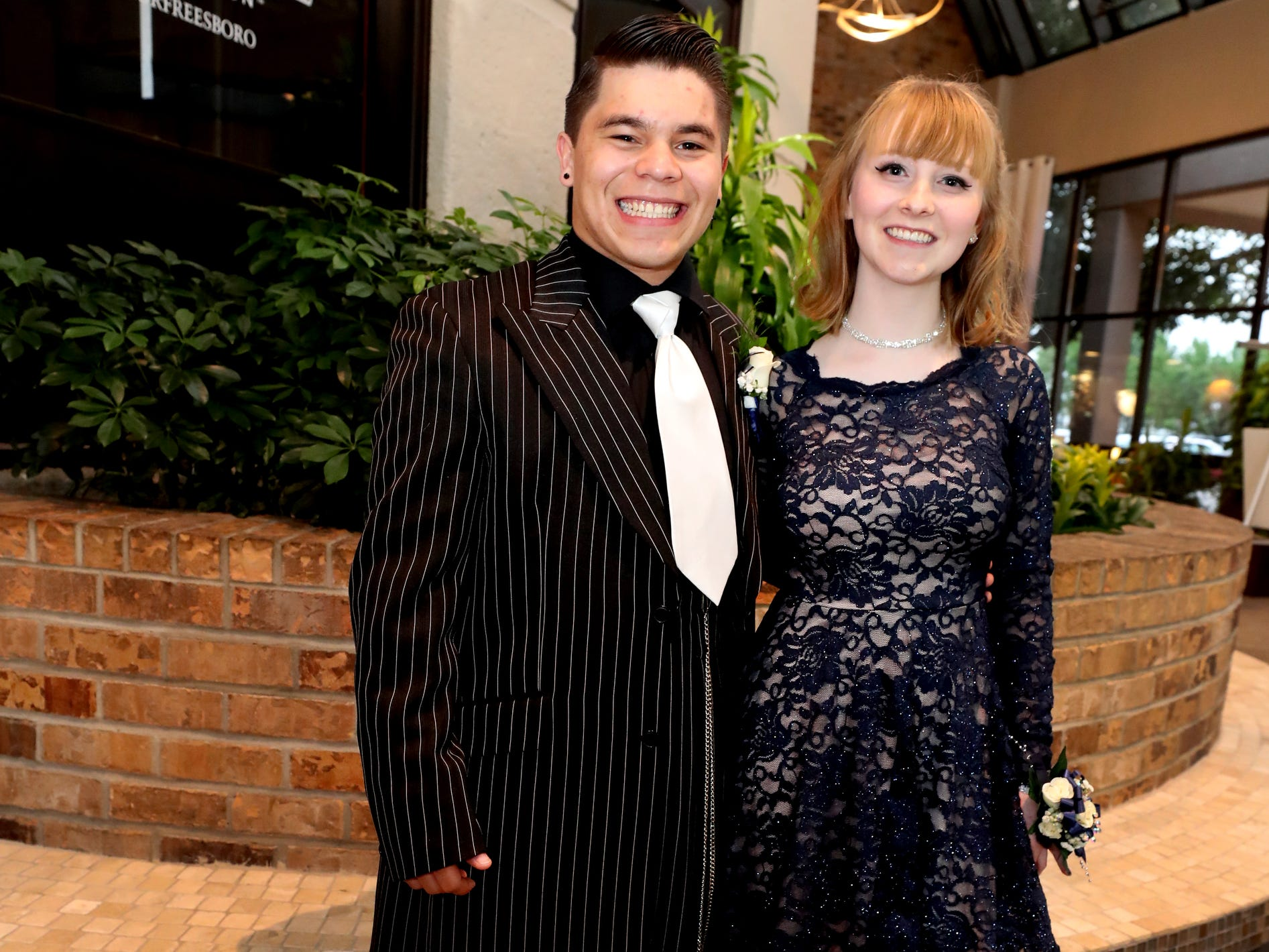 Gerardo Paez, left and Carolyn Ferguson at Holloway's prom at the DoubleTree on Thursday April 18, 2019.
