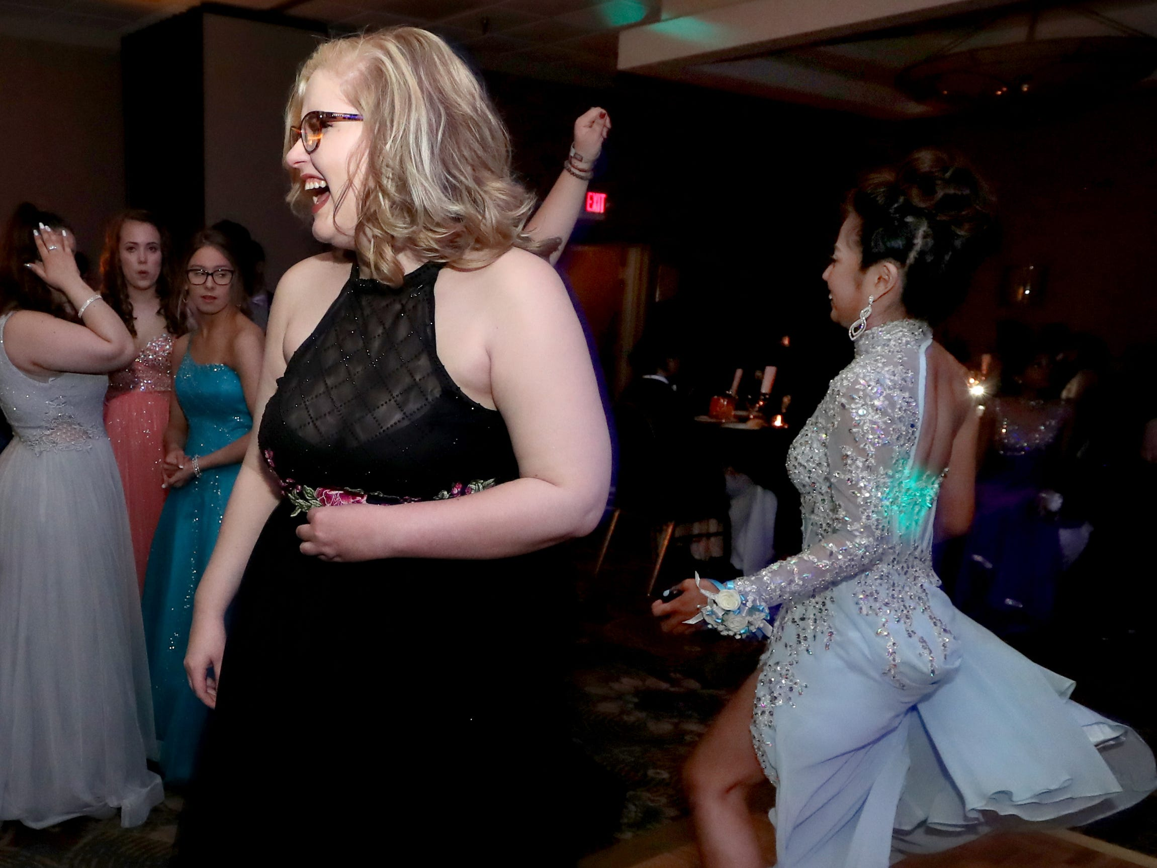 Brook Breeze dances at Holloway's prom at the DoubleTree on Thursday April 18, 2019.