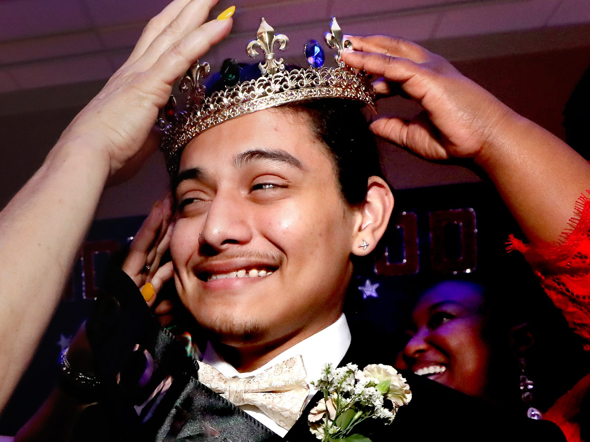 Diego Valencia is crowned Holloway High's Prom King at Holloway's prom at the DoubleTree on Thursday April 18, 2019.