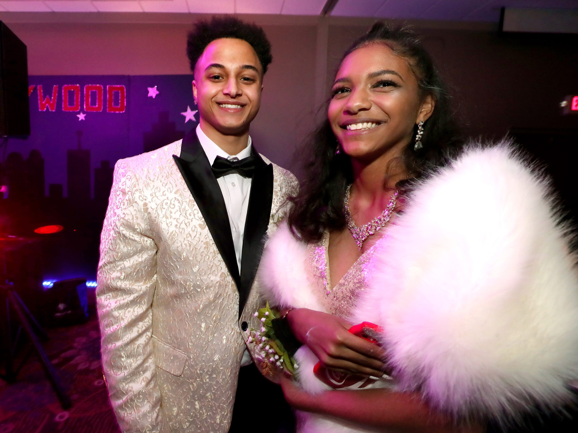 Isaiah Lott, left and Lexi Tyler, right at Holloway's prom at the DoubleTree on Thursday April 18, 2019.