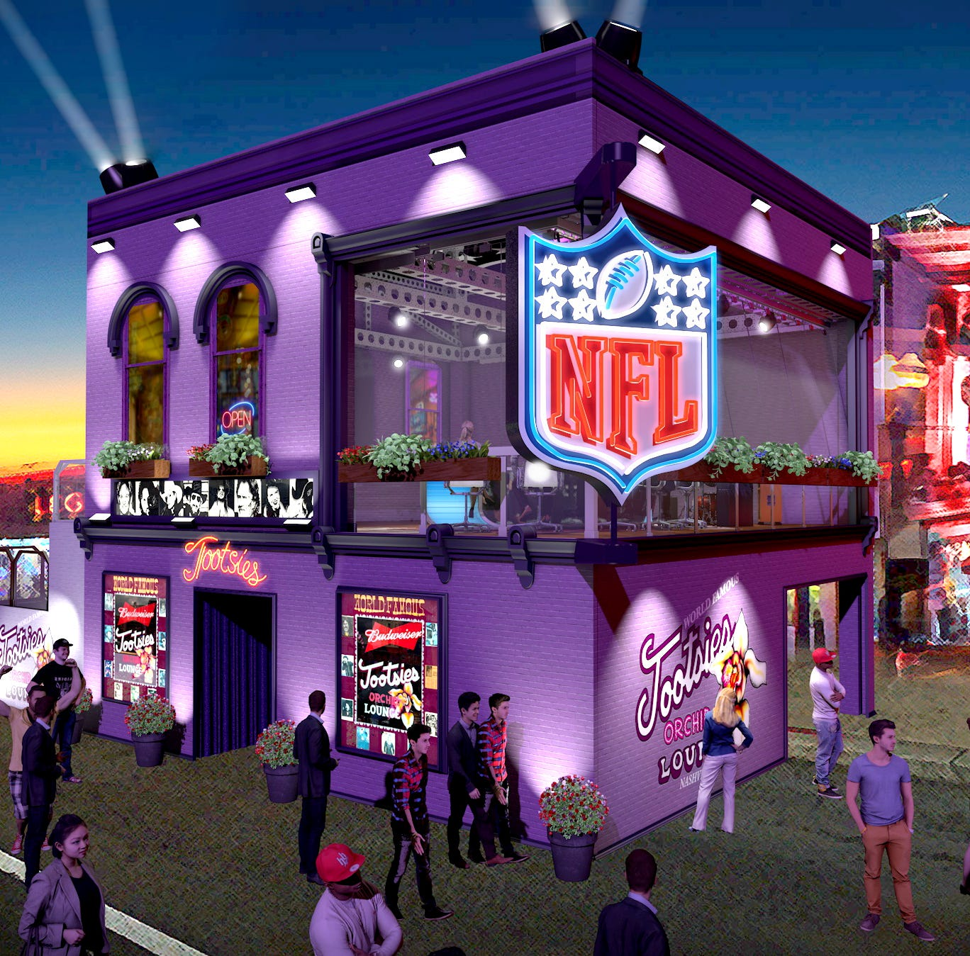 NFL Network's draft coverage in Nashville includes massive set in front of Tootsies