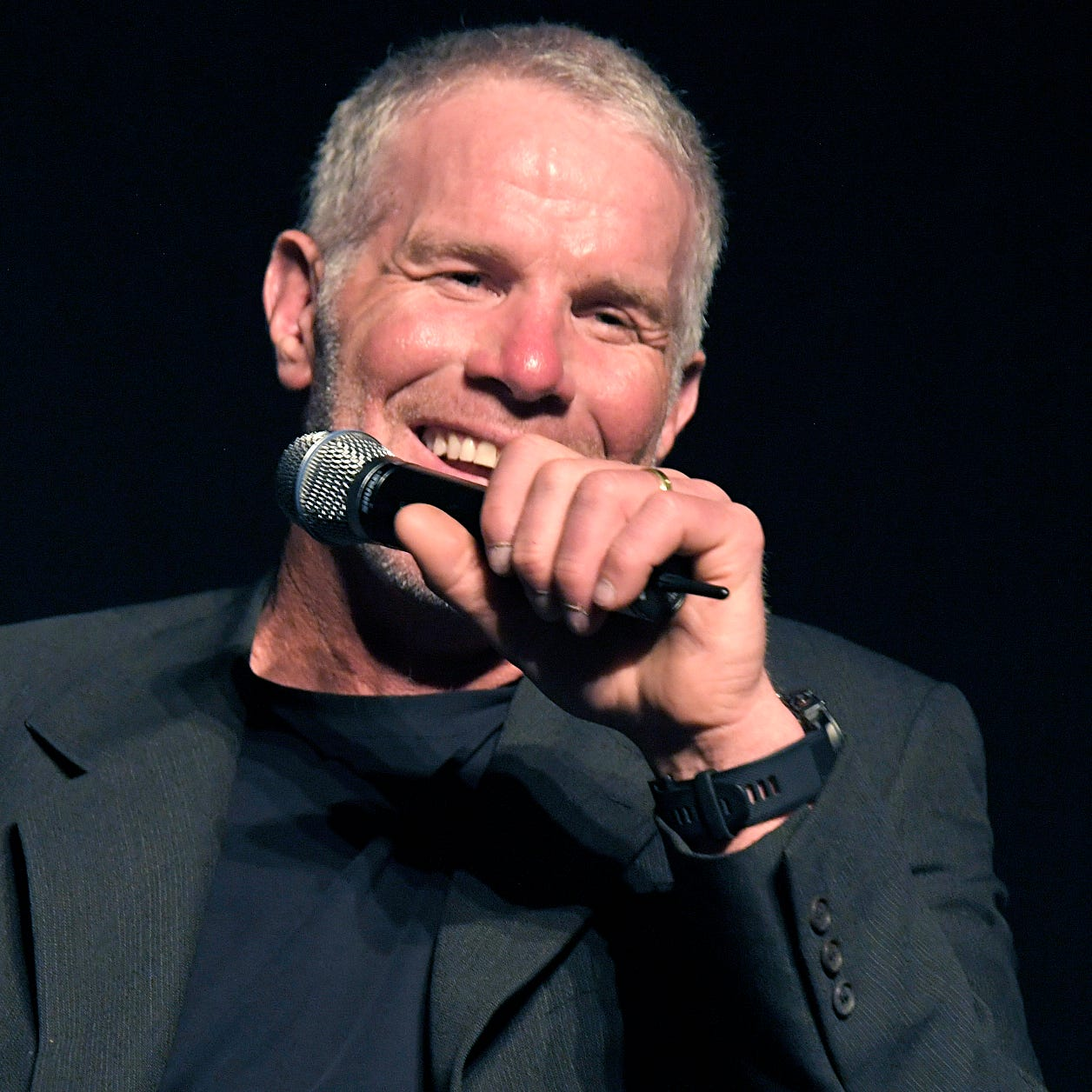 Brett Favre was the guest speaker at Middle Tennessee Christian School's Legacy of Light Gala at their Murfreesboro school on Thursday, April 18, 2019.