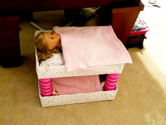Sandra Atwood and her granddaughter made bunk beds for her American Girl dolls.