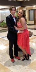 Mackenzie Schindler and her prom date, Alex Mann.