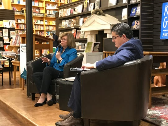 Author Susan Page and Michael Anastasi, vice president of news at the USA TODAY NETWORK - Tennessee  at Parnassus Books in Nashville on Thursday.