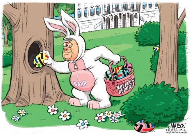 barr as easter bunny redacts eggs