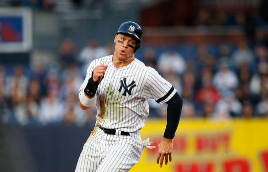 New York Yankees' right fielder Aaron Judge.