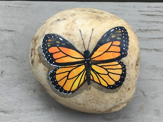 Julie Conroy has been painting and placing kindness rocks around Wanaque, driving a movement that was popular throughout North Jersey in 2017.
