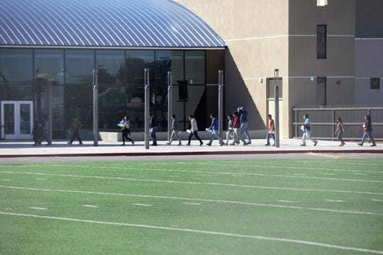 At approximately 9:15 a.m. on Friday, April 19, 2019, at least four U.S. Border Patrol vans dropped off migrants at Las Cruces High School's athletic facility, where they are expected to remain until Monday. Las Cruces Public Schools are on spring break until Tuesday, April 23.