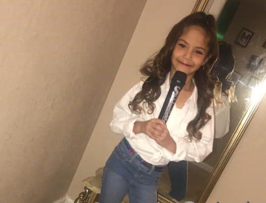 Rubi M. Garcia, 7, dressed as Selena one year for Halloween.