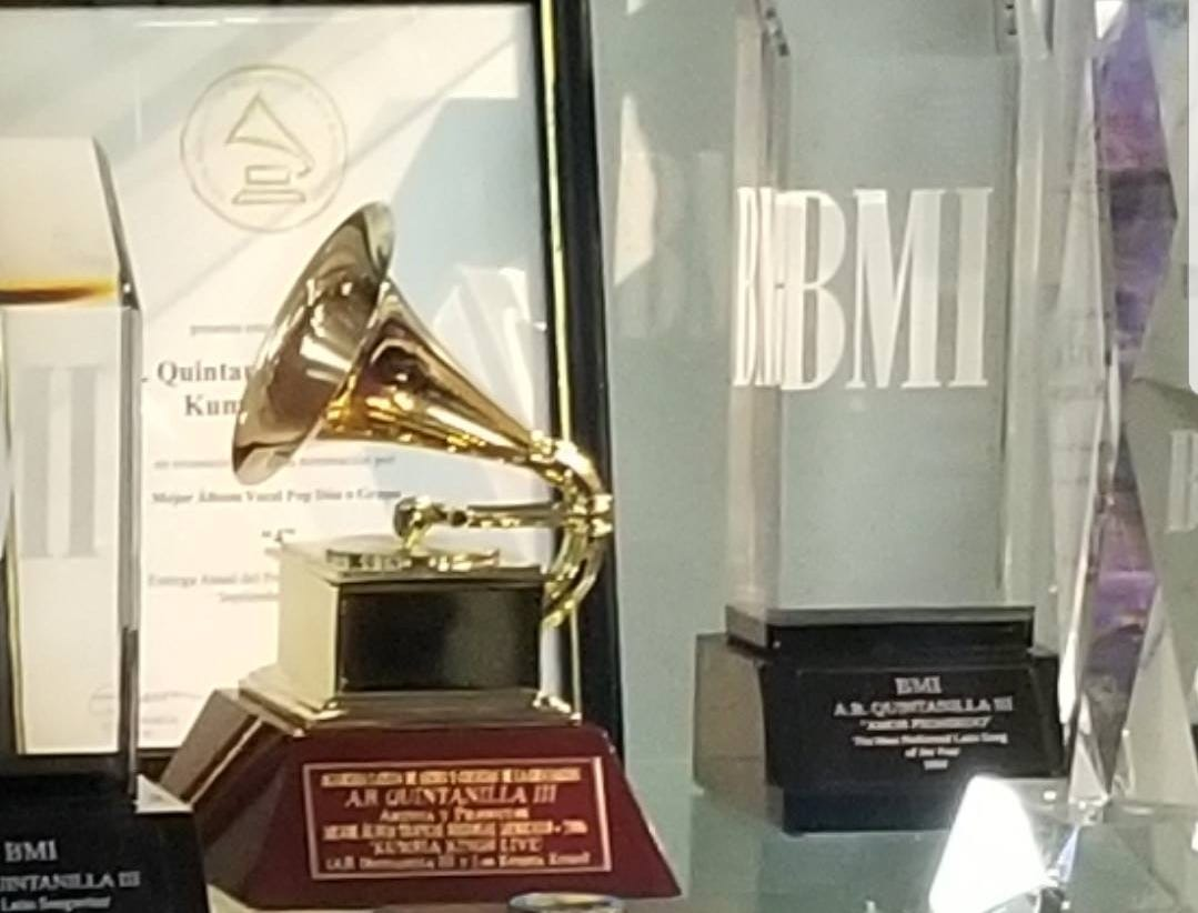 "Selena's Grammy for best Mexican-American album for ""Live"" that she won in 1994 sits at her museum, the Selena Museum, in Corpus Christi, Texas."