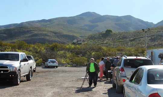 The staging area for law enforcement and search and rescue at Desert Foothills Park. Alamogordo Search and Rescue, Otero County Emergency Services, the Otero County Sheriff's Office, the New Mexico State Police and the Alamogordo Police Department are searching for a 20 year old man who is believed to have gotten lost hiking.