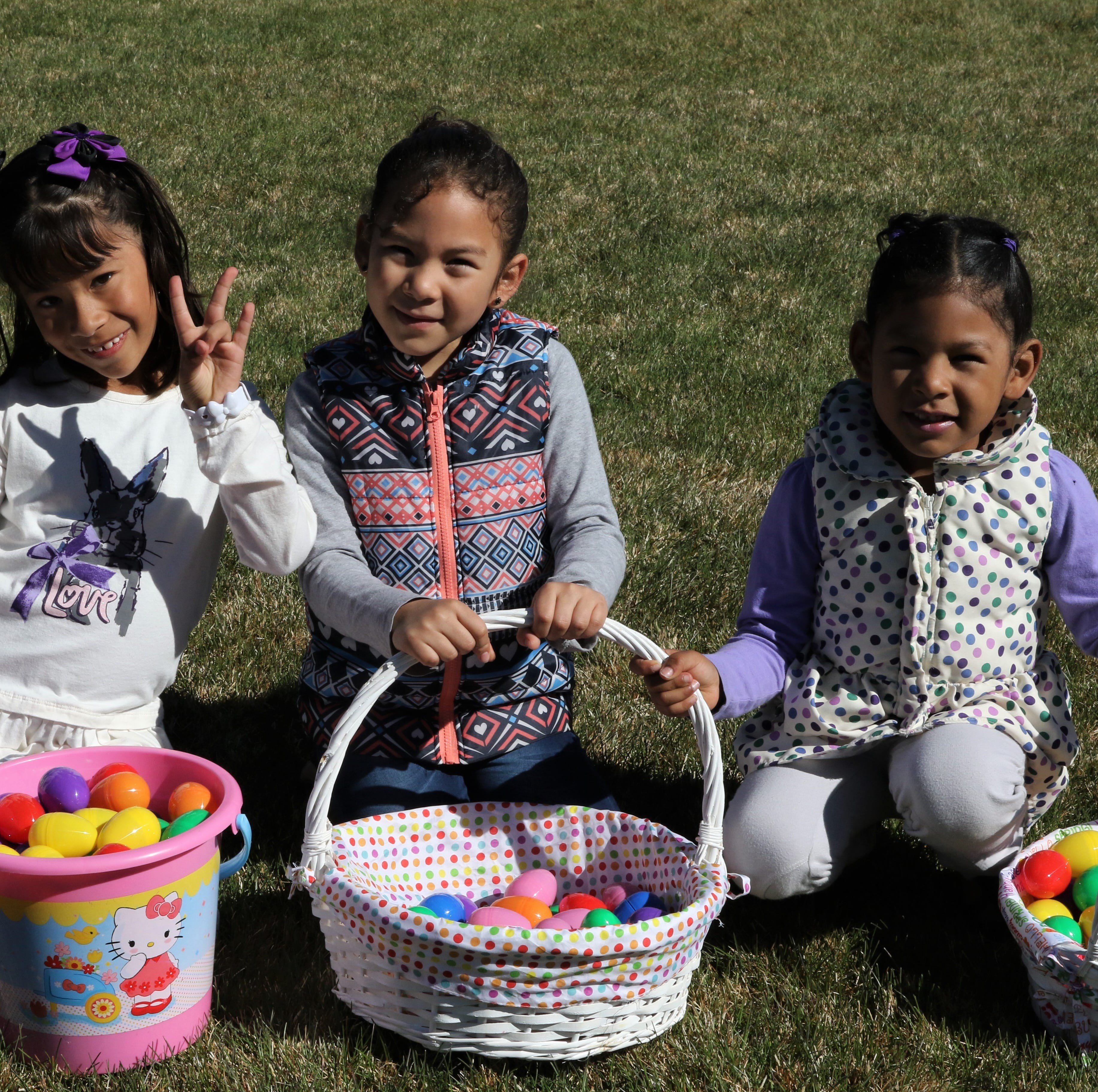 Easter egg hunts provide fun for families