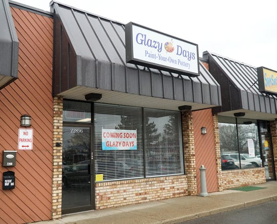 Glazy Days moved from downtown South Lyon to 22896 Pontiac Trail - in the King Plaza.