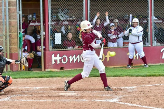 Milford softball's Allison Smith will be playing at Detroit Mercy next year.