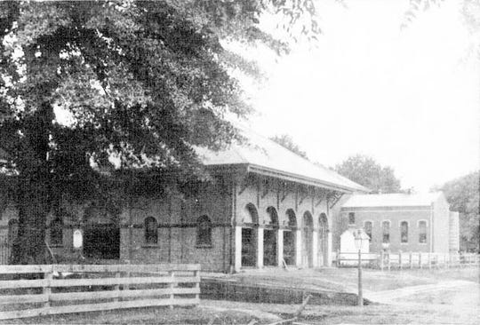 Opelousas Town Market, built in 1888,  on the corner of Market and Bellevue street in the 1890s.