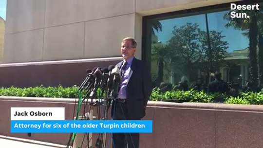 Jack Osborn represents the six Turpin children who were adults when authorities found them in January 2018.