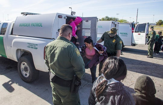 Guatemalan migrants who seek asylum in the U.S. are dropped off by Custom and Border Protection agents in Blythe, California on the morning of April 18, 2019. The migrants were than picked up by a religious organization in order to help them reach they families and friends that reside in the U.S.